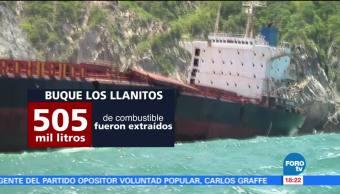 Contaminación, buque Los Llanitos, Jalisco, huracán Patricia