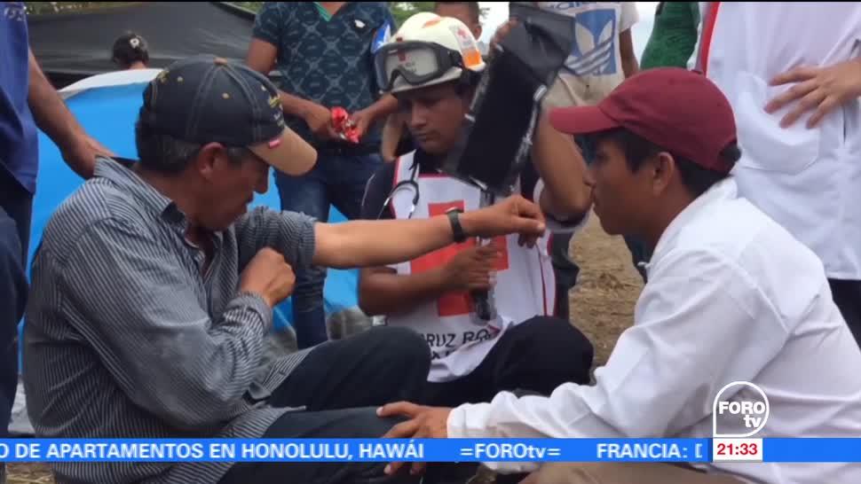 Autoridades, atienden, campamento, guatemaltecos, asentados, Campeche