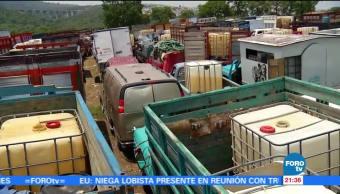 Decomisan, combustible, robado, Puebla, palmar bravo, huachicoleros