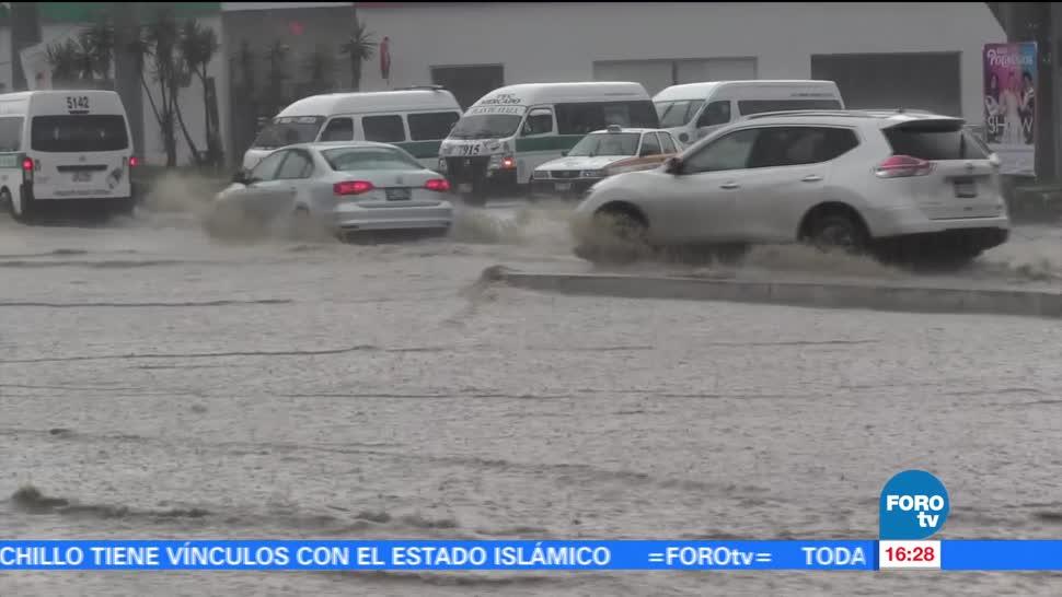 Intensa, lluvia, Chiapas, provoca, encharcamientos, vialidades