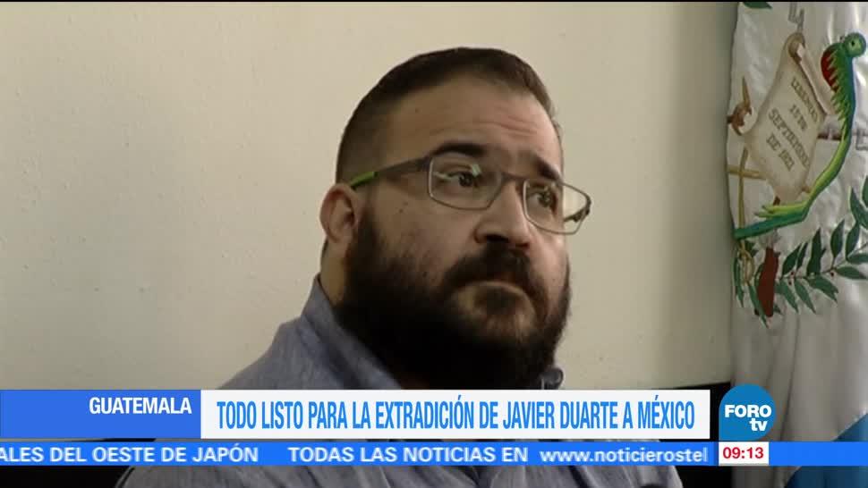 presidente de Guatemala, extradición a México, Javier Duarte, exgobernador de Veracruz
