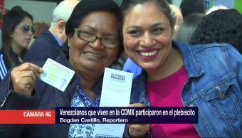 Cientos venezolanos, votan, consulta, México