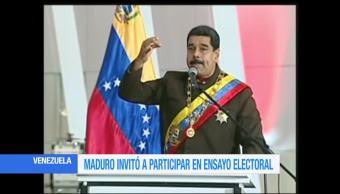 presidente, Venezuela, Nicolás Maduro, ensayo electoral