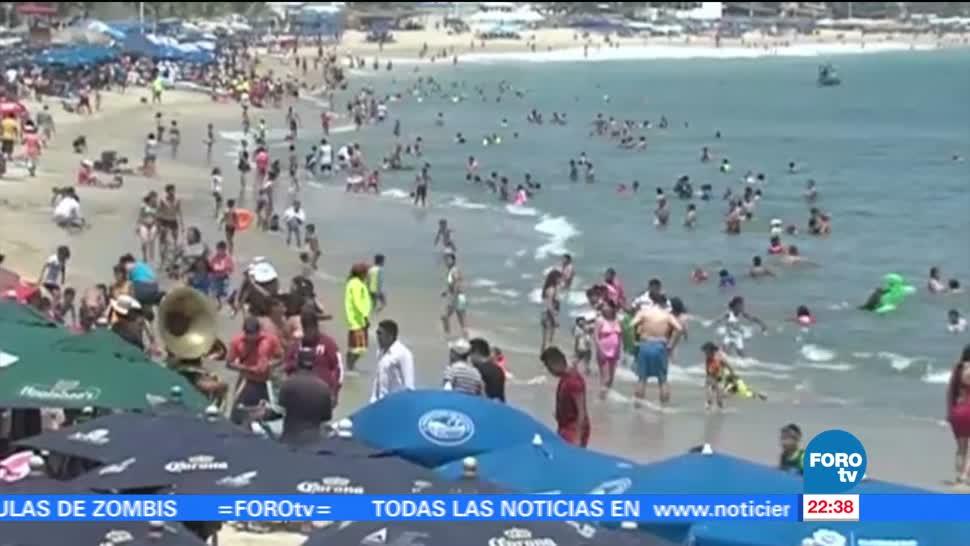 Vacacionistas, comienzan, llegar, playas, Guerrero, acapulco