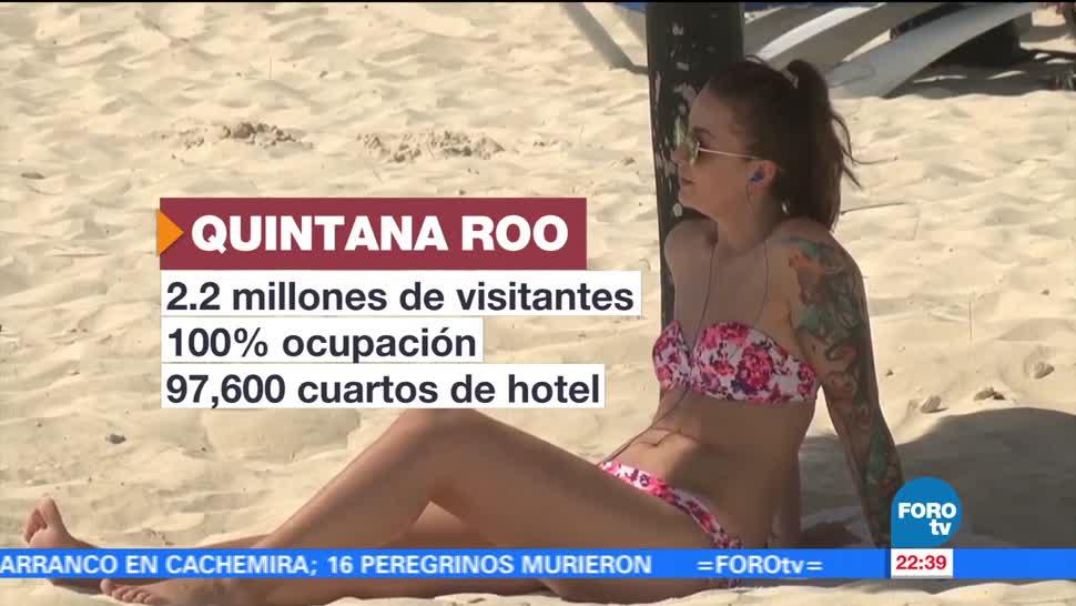 Turistas, comienzan, saturar, playas, cancún, Quintana Roo
