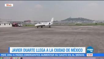 exgobernador de Veracruz, Javier Duarte, hangar de la PGR, Reclusorio Norte