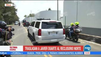 Trasladan, Javier Duarte, Reclusorio Norte