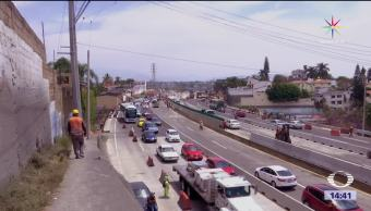 Denuncian falla, distribuidor vial, Zapata de Cuernavaca