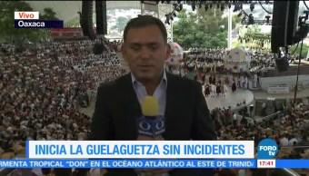 Inicia, La Guelaguetza, sin incidentes, Oaxaca