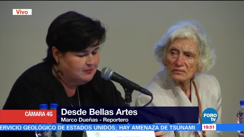 noticias, forotv, Reconocen, Bellas Artes, trayectoria, pintora Martha Chapa