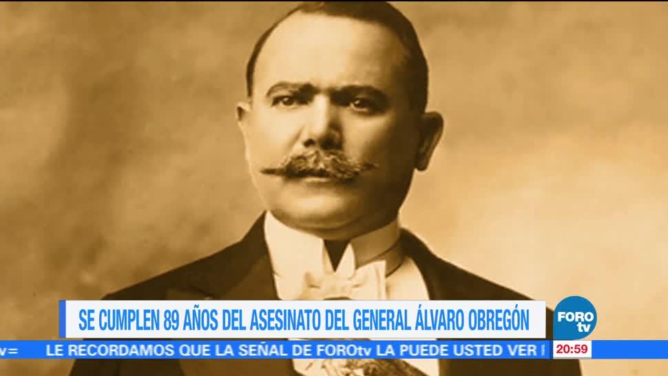 noticias, forotv, Efeméride, En Una Hora, Asesinato, Álvaro Obregón