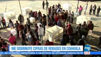 noticias, forotv, INE, disminuye, cifras rebases, Coahuila