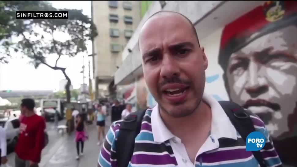 video capta, violencia, hombres armados, multitud, plebiscito contra Maduro