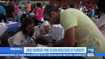 alcalde de Caracas, Jorge Rodríguez, fraude, plebiscito organizado, oposición