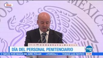 Renato Sales, celebra, Día del Personal Penitenciario, comisionado nacional de Seguridad