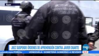 Juez Ordeno, Suspenden, Ordenes De Aprehension, Javier Duarte