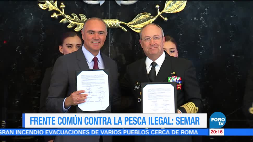 noticias, forotv, Semar y Sagarpa, firman acuerdo, protección, recursos marinos