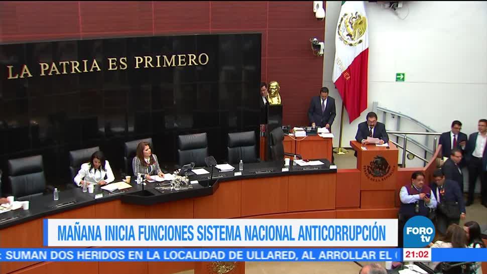 Noticias, forotv, Inician, funciones, Sistema Nacional Anticorrupción
