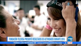 noticias, forotv, Fundación Televisa, presentó, resultados de actividades, 2016
