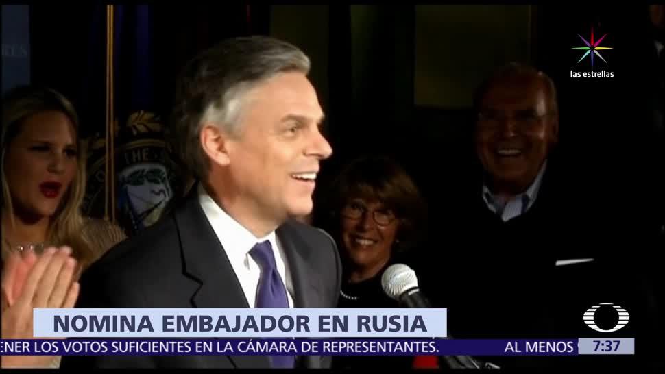 Donald Trump, exgobernador de Utah, Jon Huntsman, embajador en Rusia