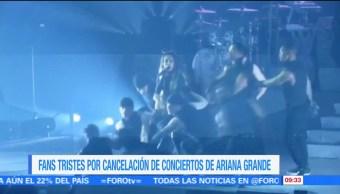 fans de Ariana Grande, cantante, regios, cancelación de conciertos