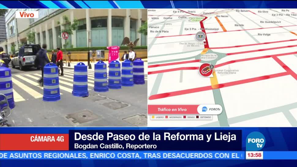 noticias, forotv, Realizan, cortes, Paseo de la Reforma, manifestación