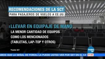Medidas, extraordinarias, seguridad, vuelos EU, 19 de julio, aplicar medidas
