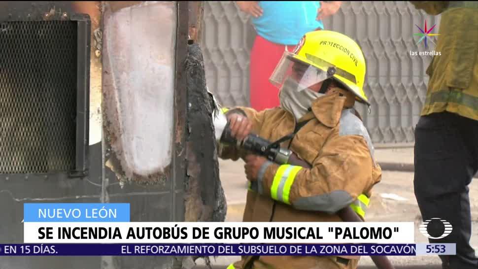 Incendia, Autobús, Grupo Palomo, Nuevo Leon