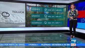 El clima, Daniela Álvarez, condiciones climatológicas, Pronóstico del tiempo