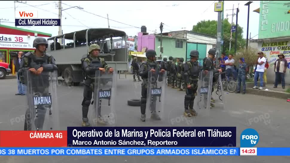 Llega unidad artillada, Marina, Tláhuac
