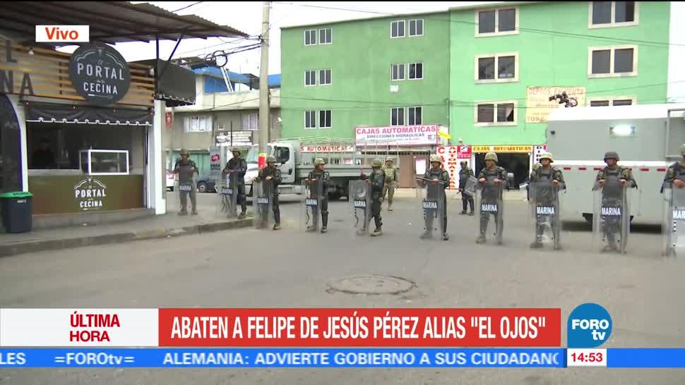 Marina confirma la muerte de 'El Ojos' en Tláhuac
