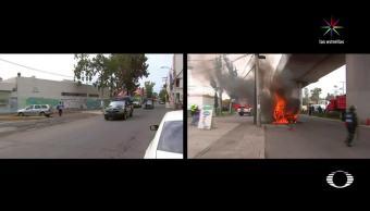 noticias, forotv, primera vez, narcobloqueos, CDMX, quema de vehículos