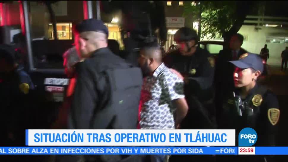 noticias, televisa, Detenidos, Tláhuac, prisión preventiva, operativo