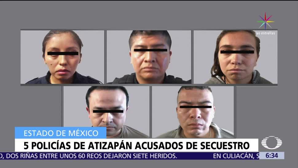 noticias, televisa, cinco policías, secuestro, tres personas, Atizapán