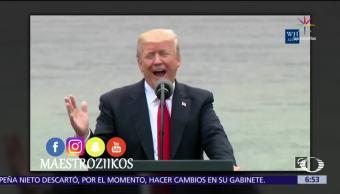 noticias, televisa, redes sociales, difunden. parodia de Trump. cantando Despacito