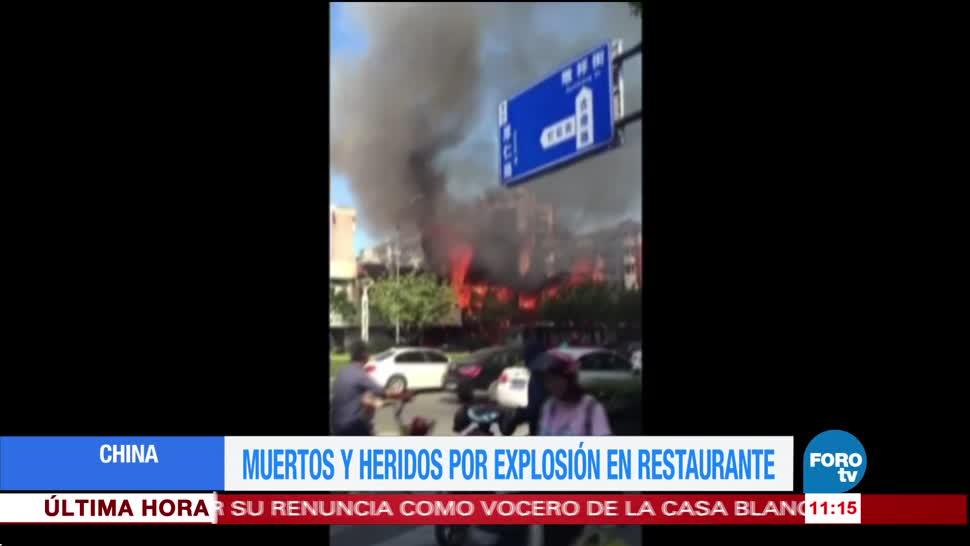 noticias, forotv, Muertos, heridos, explosión en un restaurante, China