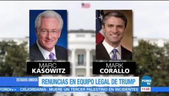 noticias, forotv, Renuncias, equipo legal, Trump, Donald Trump
