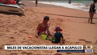 Miles De Turistas, Acapulco, Temporada De Vacaciones, Ocupacion Hotelera