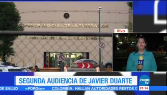 Segunda, Audiencia, Javier Duarte, Exgobernador, Veracruz, Situación Jurídica