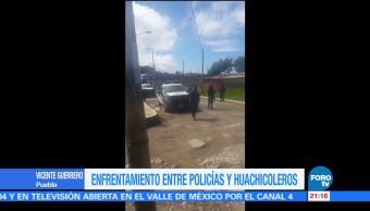 Enfrentamiento, Policías, Huachicoleros, Puebla, Tres Cruces, Telpatlán