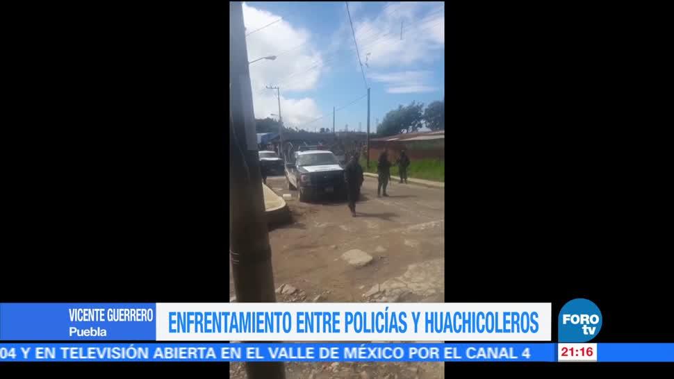 Enfrentamiento Policías Huachicoleros Puebla Tres Cruces Telpatlán