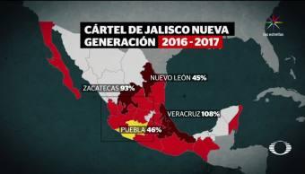 Expansión territorial Cártel Jalisco Nueva Generación Autoridades federales México