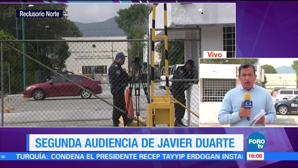 Decretan receso Segunda audiencia Vinculación proceso Duarte Reclusorio Norte Exgobernador Veracruz