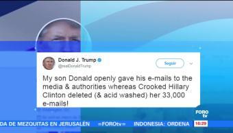 Trump Arremete Hillary Clinton Twitter Estados Unidos