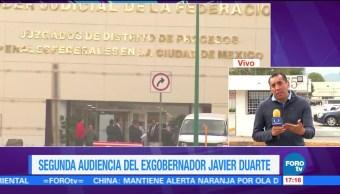 Reanudan Segunda audiencia Vinculación proceso Duarte Reclusorio Norte Exgobernador Veracruz
