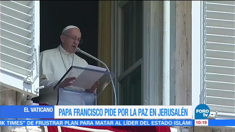Papa Francisco, Pide Por La Paz, Jerusalen, Israel