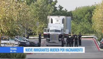 Nueve Migrantes Muertos Encerrados Tráiler Texas San Antonio Abandonados