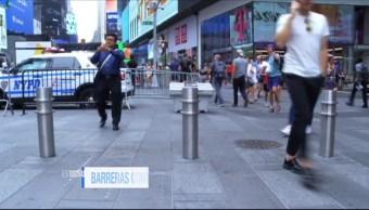 NY Instala Barreras Atropellamientos Evitar Atentados Nueva York Times Square