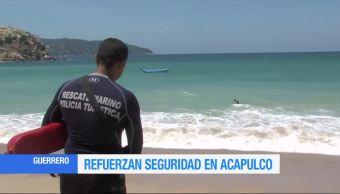 Guardavidas Refuerzan Seguridad Playas Acapulco Guerrero
