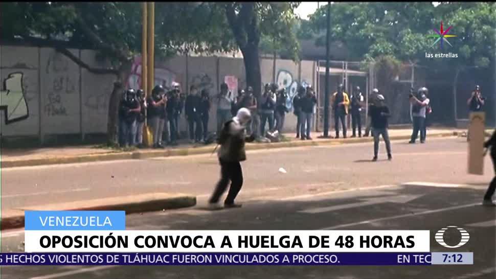 Oposicion Venezuela Huelga General Cuarenta Y Ocho Horas